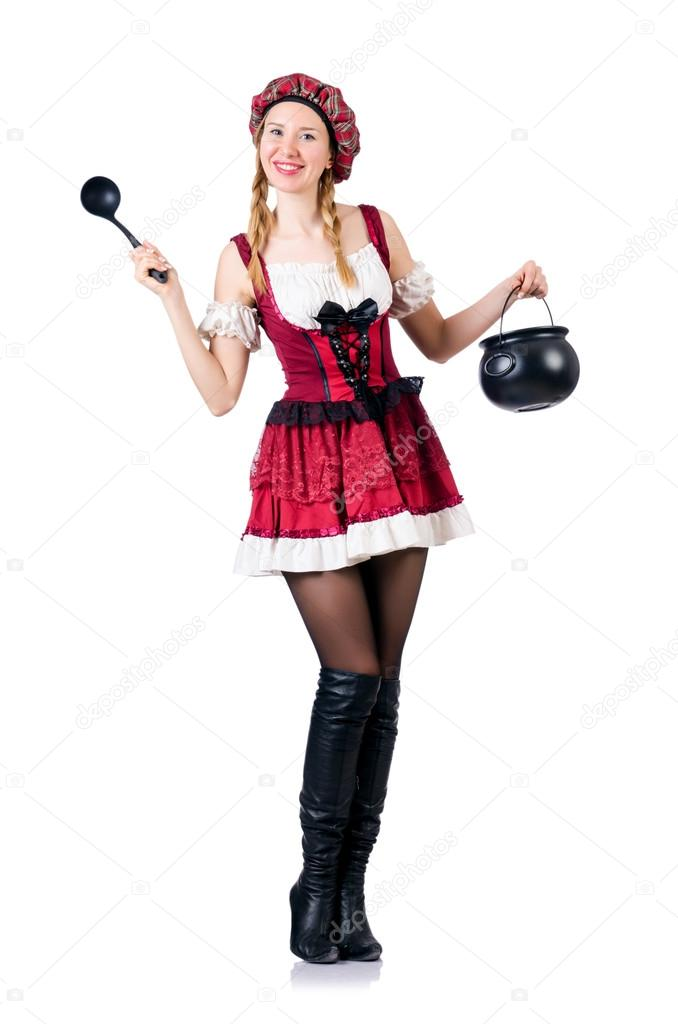 mujer soltera en aleman