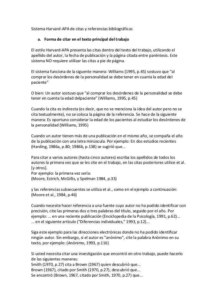 Sistema Harvard-apa De Conocer Y Referencias Bibliográficas Hombre Para Mujer Cartagena-67691
