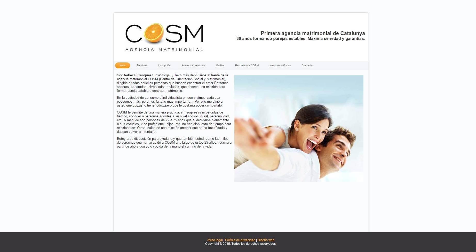 Las agencias matrimoniales y las páginas de contacto